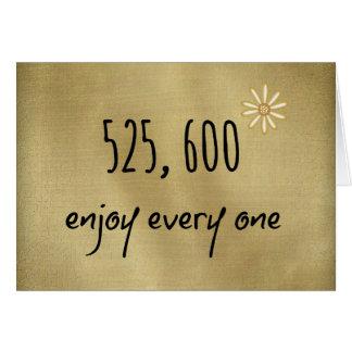 525.600 disfrute de cada minuto tarjeta pequeña