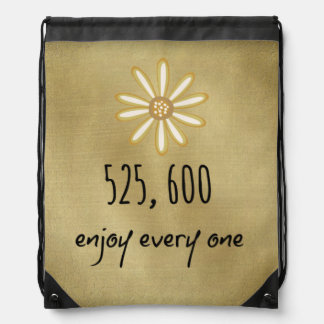 525,600 Enjoy Every Minute Drawstring Bag