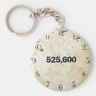 525.600 minutos llavero redondo tipo pin
