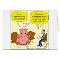 525 hippo violation cartoon card