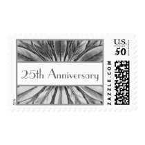 525th Anniversary - Silver Flower Petals Postage