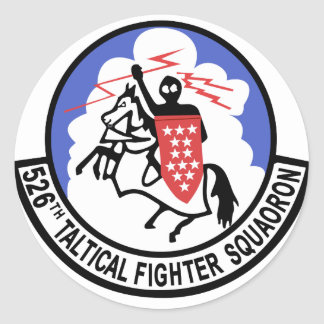 526 Tactical Fighter Squadron Classic Round Sticker