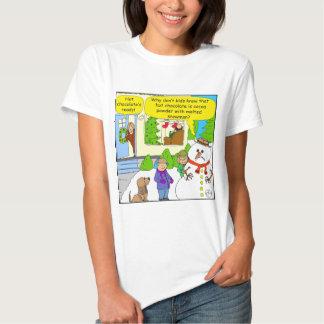 527 melted snowman Cartoon T-shirt