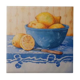5280 Lemons in Blue Bowl Tile