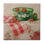 "5284 Strawberries in Green Bowl Tile<br><div class=""desc"">From an original watercolor by Ruth Garrison.</div>"