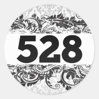 528 ROUND STICKERS