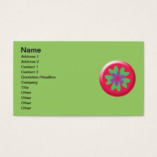5290_flower HOT PINK LIGHT GREEN PURPLE FLOWER GRA Business Card