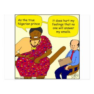 529 nigerian prince cartoon postcard