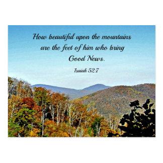 52:7 de Isaías cómo es hermoso sobre las Tarjeta Postal