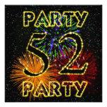 52.a invitación de la fiesta de cumpleaños con los