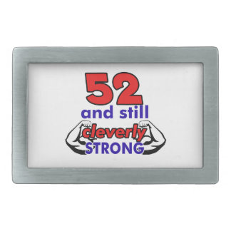 52 and still cleverly strong rectangular belt buckle