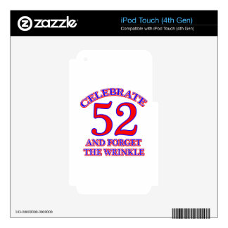 52 Birthday Design Skin For iPod Touch 4G