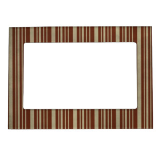 52 BURGUNDY BEIGE CLASSIC STRIPES PATTERNS TEMPLAT MAGNETIC PICTURE FRAMES
