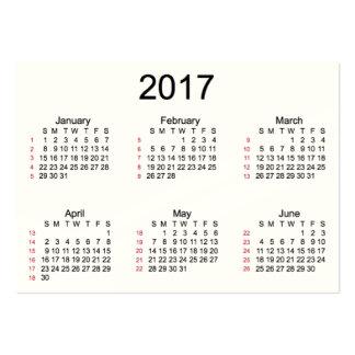 52 calendario indestructible de la semana 2017 por tarjetas de visita grandes