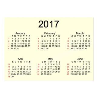 52 calendario poner crema de la semana 2017 por tarjetas de visita grandes