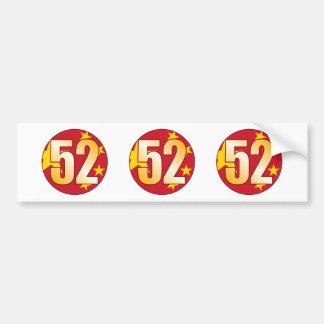 52 CHINA Gold Bumper Sticker