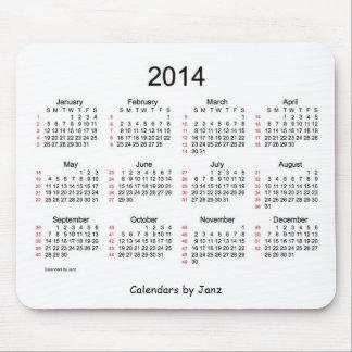 52 cojín de ratón blanco y negro del calendario 20 tapete de ratón