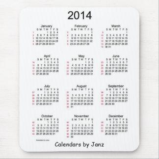 52 cojín de ratón blanco y negro del calendario 20 alfombrillas de ratones