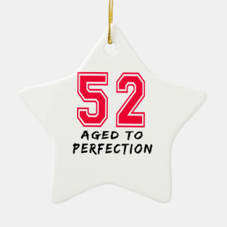 52 envejeció al diseño del cumpleaños de la perfec adorno de reyes