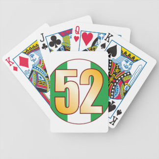 52 NIGERIA Gold Bicycle Playing Cards