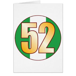 52 NIGERIA Gold Card
