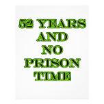 52 ninguna hora de prisión membrete personalizado