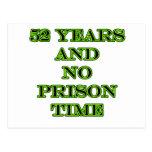 52 ninguna hora de prisión postales