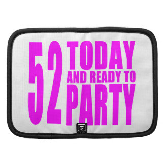 52.os cumpleaños de los chicas: 52 hoy y aliste organizadores