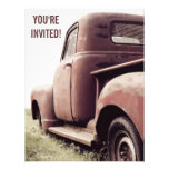 52 Primer Vintage Pickup Truck Party for Old Guy Invitations