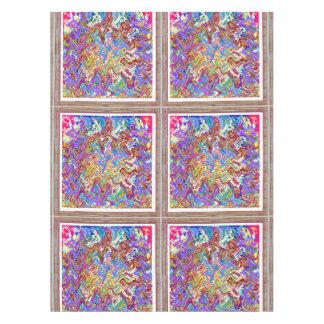 """52"""""""" regalo abstracto colorido del arte de la onda mantel de tela"""