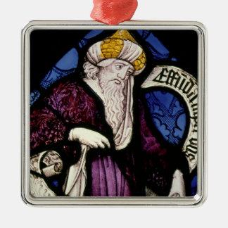 52: Roundel del profeta Ezekiel, siglo XV Ornamento Para Arbol De Navidad