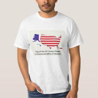 52 State Flag USA T-shirt