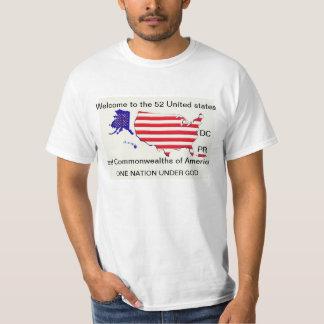 52 STATES UNDER GOD t-shirt