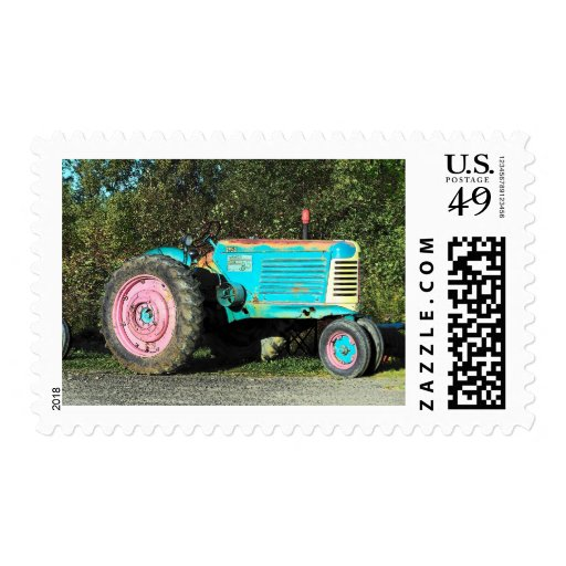 52 tractor postage stamp