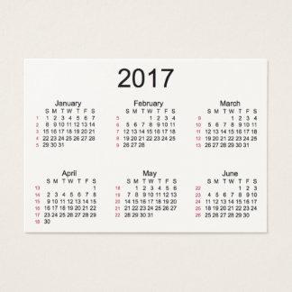 52 Week 2017 Cream Calendar by Janz Business Cards