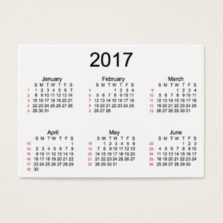 52 Week 2017 Indestructible Calendar by Janz Business Card
