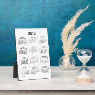 52 Week Desk Calendar 2016 Plaque