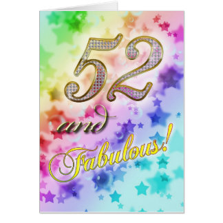52nd birthday for someone Fabulous Card