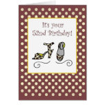 52nd Birthday Women's Shoes Polka Dots, Brown Card