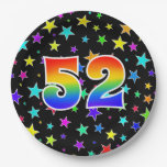 [ Thumbnail: 52nd Event: Bold, Fun, Colorful Rainbow 52 Paper Plate ]