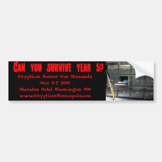 530507830_b1d7e4b18b, Can you survive year 5?, ... Bumper Sticker