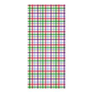 5305_plaid-11-bright COLOURFUL PLAID PATTERN TINY Rack Card