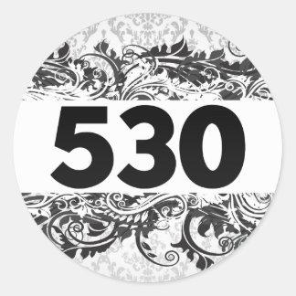 530 PEGATINA REDONDA