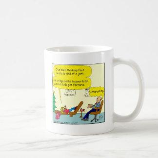 530 santa is a jerk cartoon coffee mug