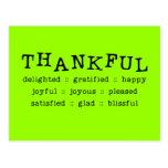 5318__thankful HAPP AGRADADO ENCANTADO AGRADECIDO Tarjeta Postal