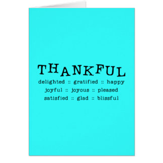 5318__thankful__ THANKFUL DELIGHTED GRATIFIED HAPP Cards