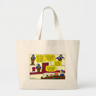 531 Rabbi Vacation cartoon Tote Bags