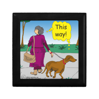 533 this way mom walking dog cartoon jewelry boxes