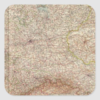 5355 Alemania del norte Pegatina Cuadrada