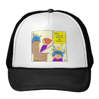 535 thinking cap cartoon trucker hat